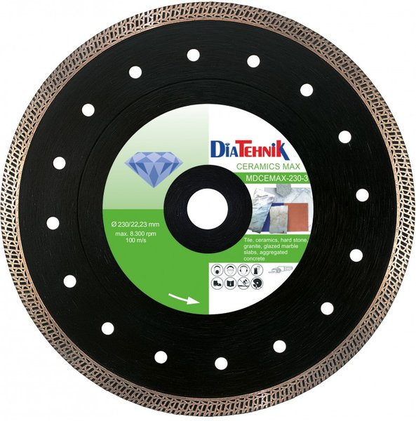 Disc diamantat CeramicsMAX 115x22,23mm pentru beton agregat, clincher [MDCEMAX-115-3]